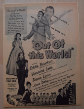 Out of This World (1945) - Veronica Lake | Vintage Trade Ad